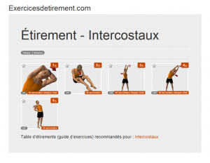 L'image étirement: Intercostaux
