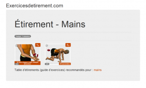 L'image étirement: Mains