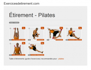 L'image étirement: Pilates