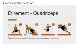 L'image étirement: Quadriceps