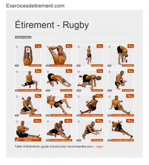L'image étirement: Rugby