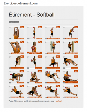 L'image étirement: Softball