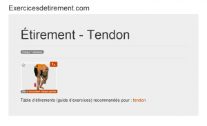 L'image étirement: Tendon