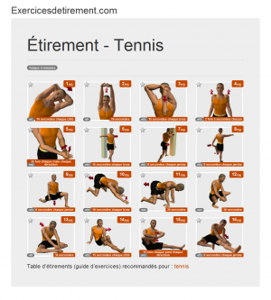 L'image étirement: Tennis