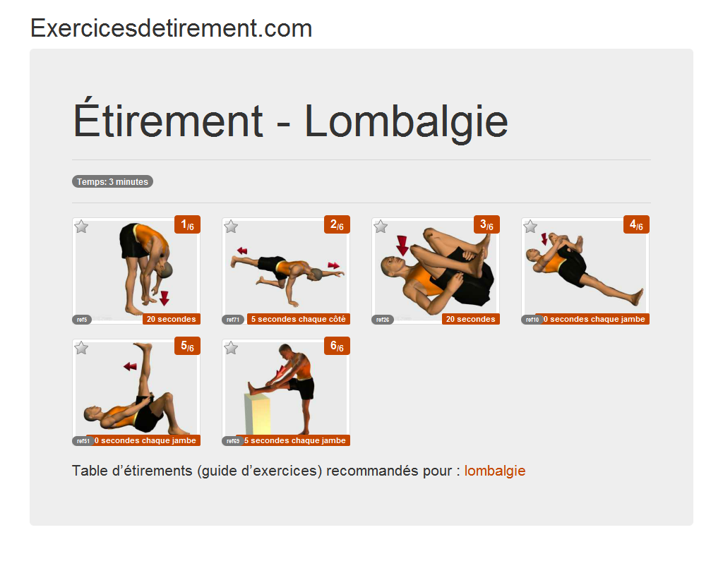 Top Exercicesdetirement.com - L'image étirement - Lombalgie BS95